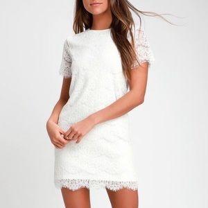 NWT Lulus Take Me To Brunch White Shift Dress